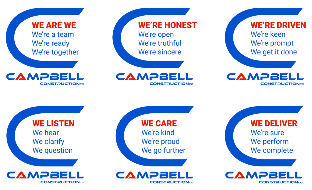 Campbell Construction Co Values